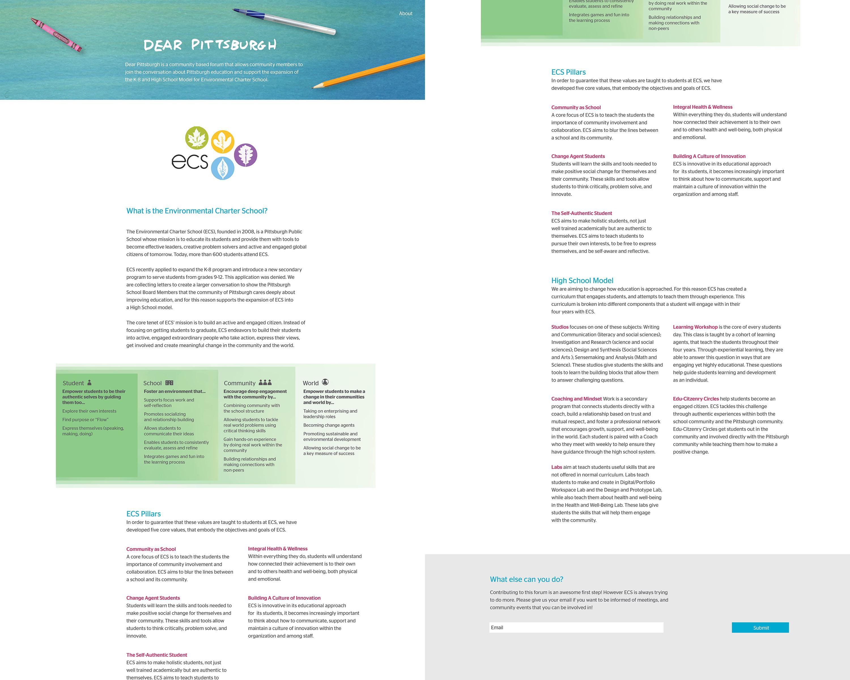 Environmental Charter School pillars and models