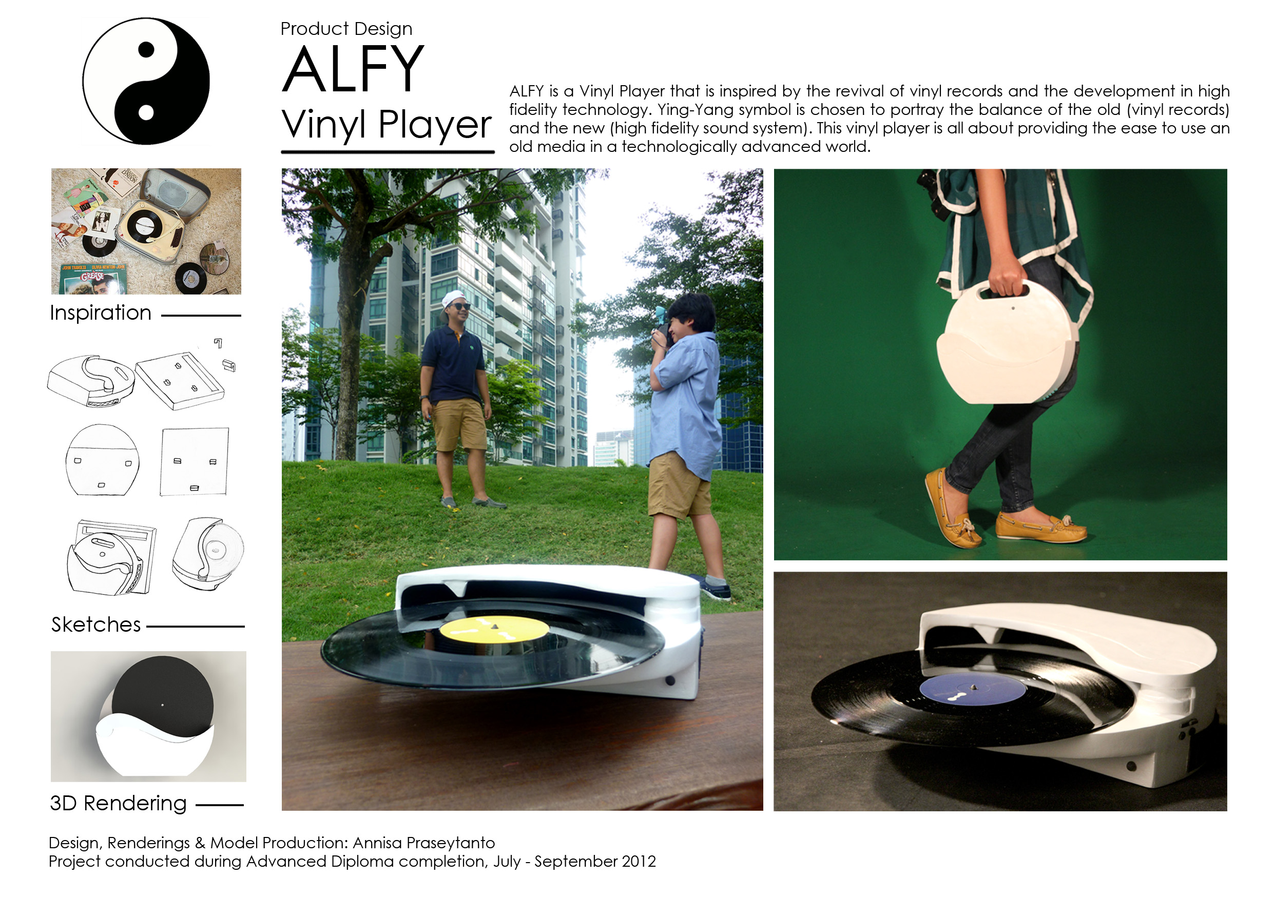 Product Design: ALFY Vinyl Player