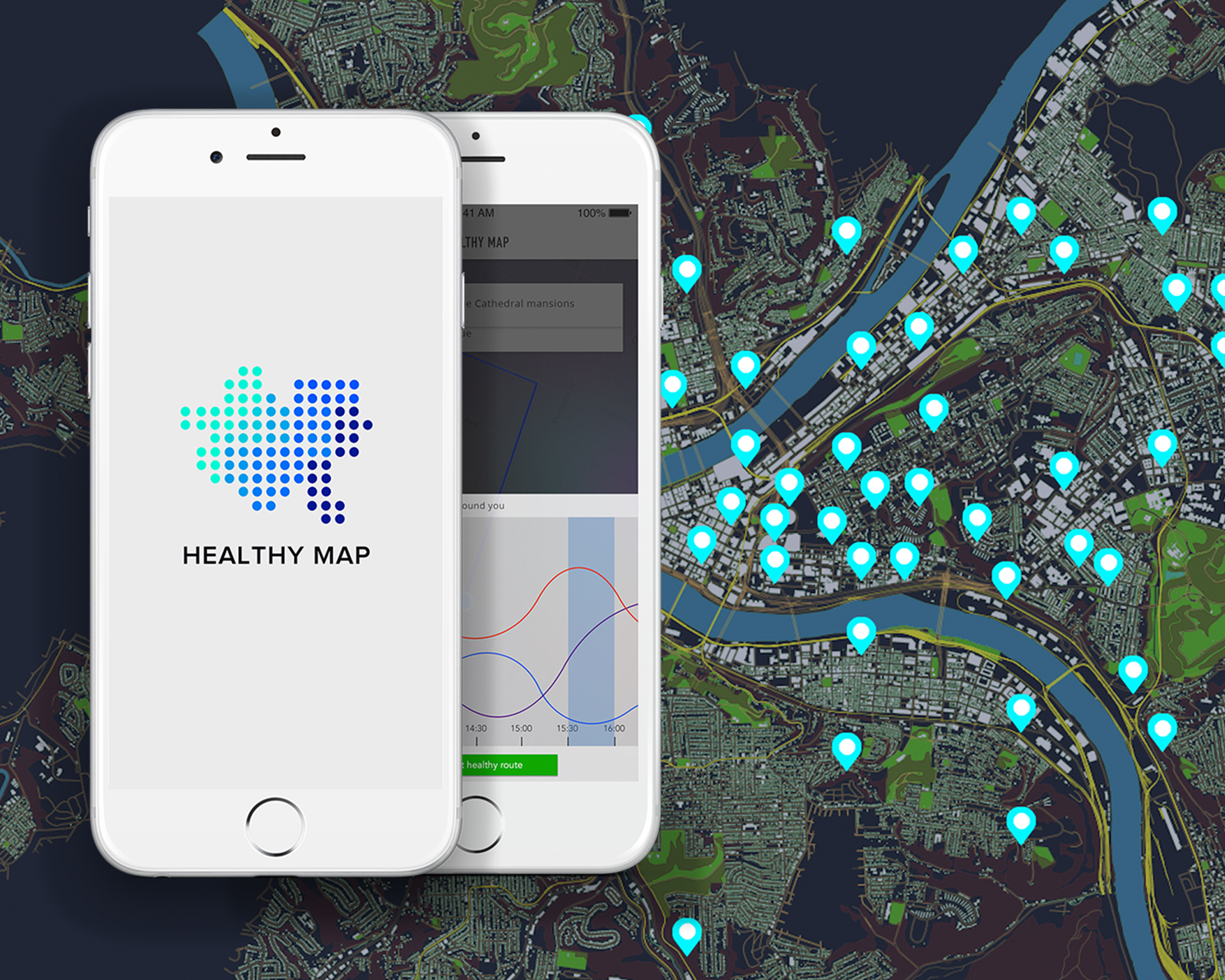 Healthy Map_Providing healthier routes to the bike riders in Pittsburgh by using real-time data.