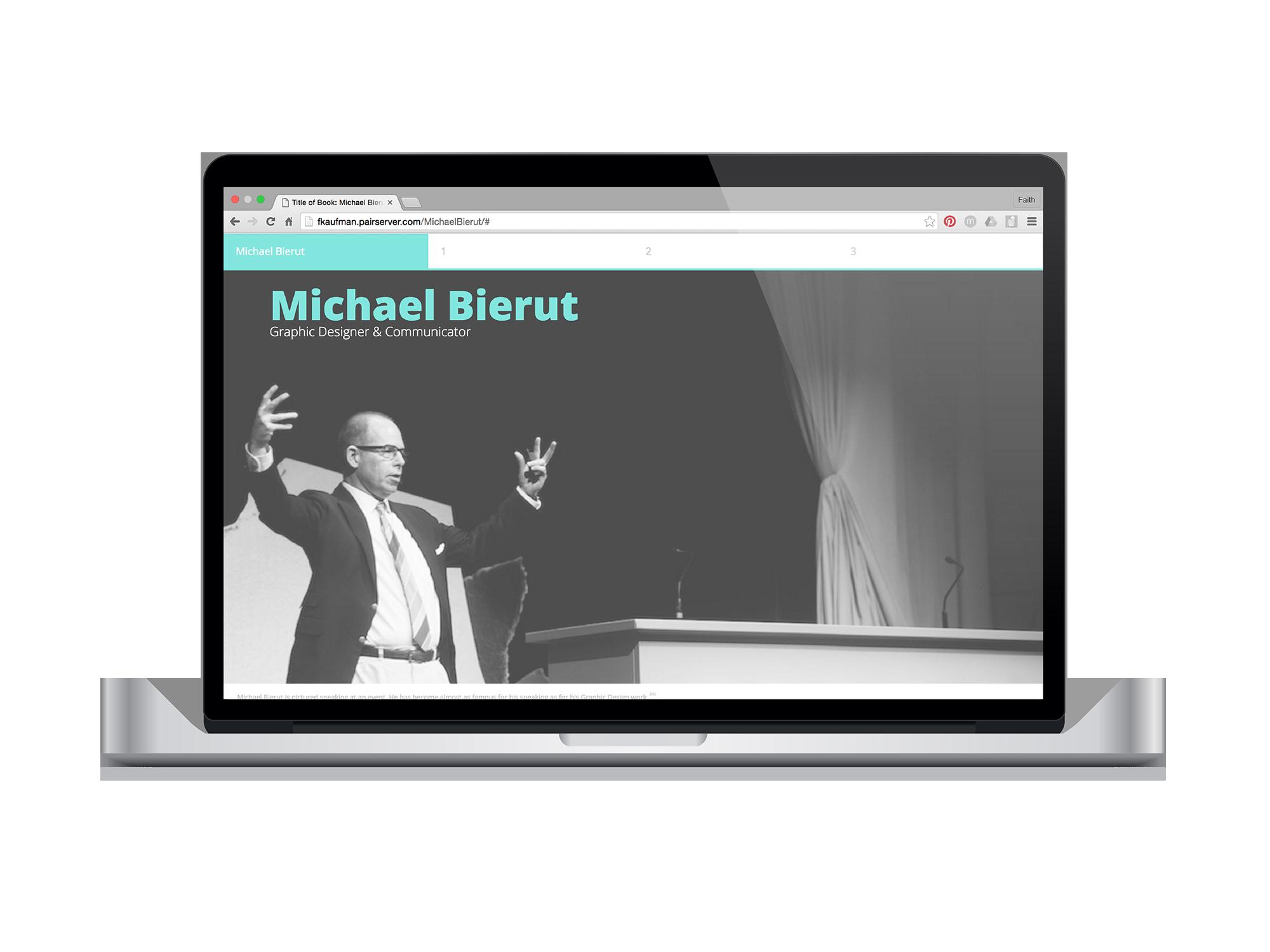 Michael Bierut Visual Visionaries Web Browser