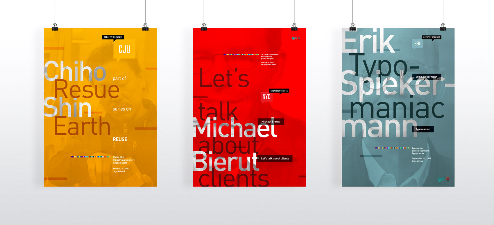 Creative Morning lecture series posters