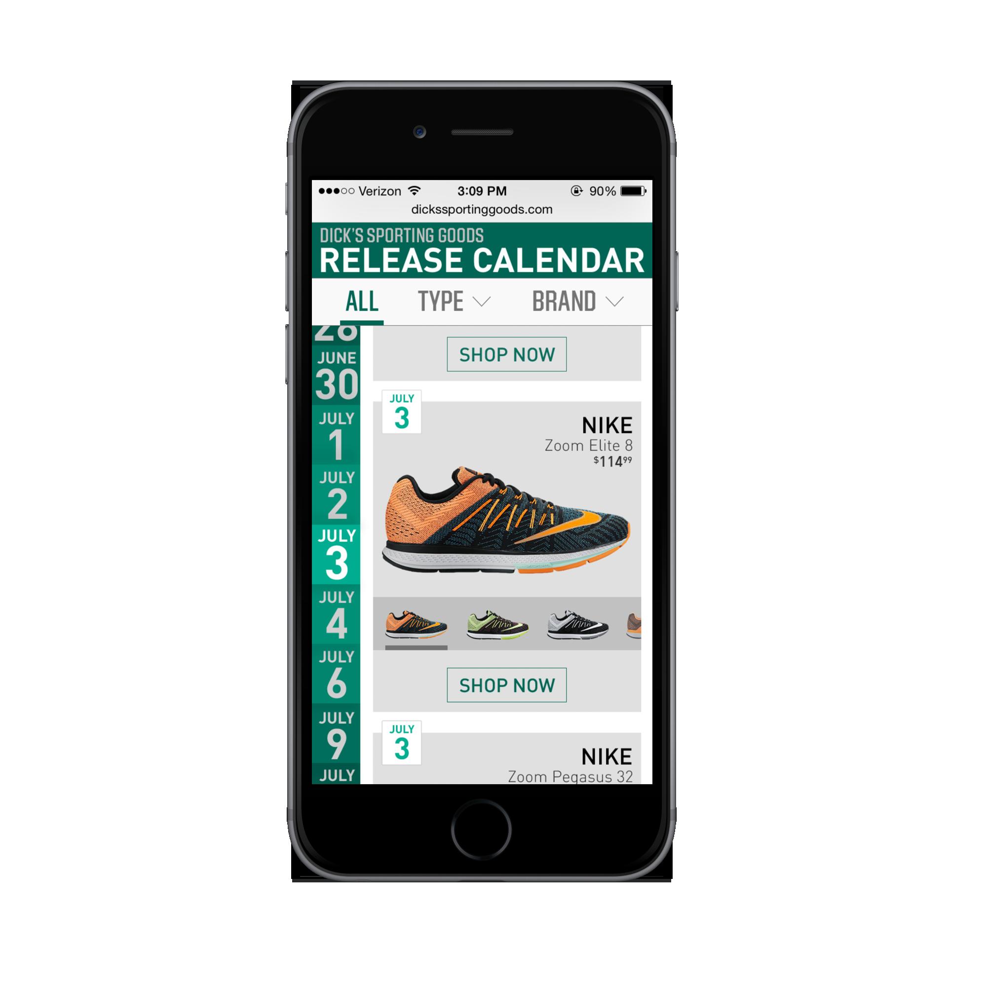 Footwear Release App
