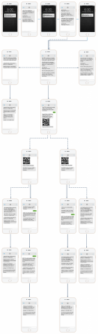 Court Connect Text notification system - wireframe
