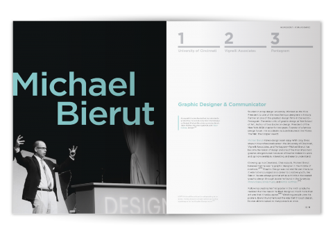 Michael Bierut Visual Visionaries Print Spreads
