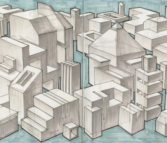 Cubeville & Cylindertown - by Carolyn Zhou