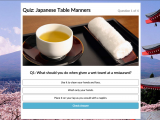 Users can test their knowledge using the fun and interactive quizzes available on the site.