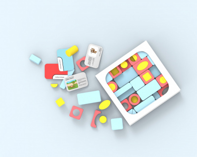 An image of imago, a kit of blocks to guide inspiration and resenstivity to children's surroundings