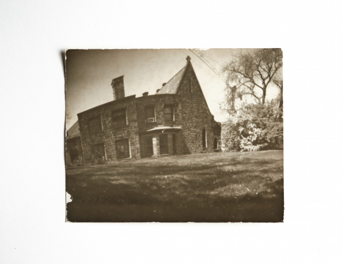 Pinhole image of a church